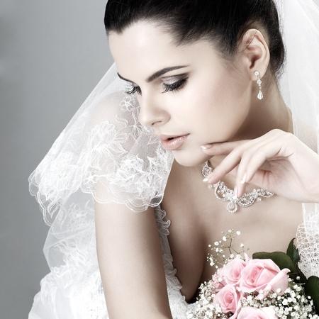 hair dress: Decoraci�n de boda Foto de archivo