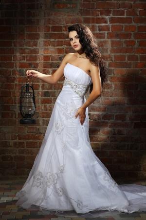 Girl is in wedding dress Stock Photo - 10358023