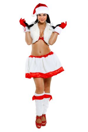 Beautiful and sexy woman wearing santa clause costume Stock Photo - 10546688