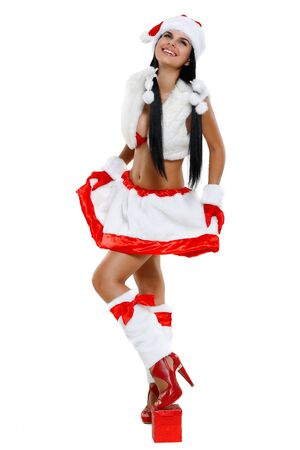 Beautiful and sexy woman wearing santa clause costume Stock Photo - 10546692