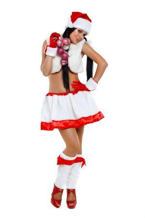Beautiful and sexy woman wearing santa clause costume Stock Photo - 10546689