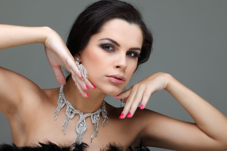 portrait elegant sexual woman  in fashion style Stock Photo - 15774164