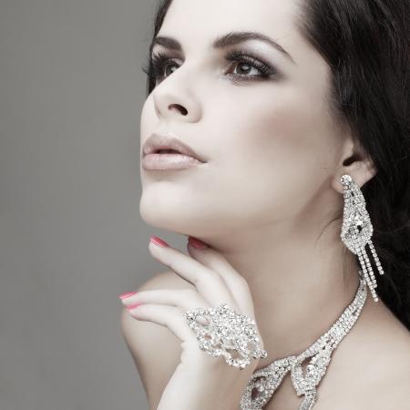 portrait elegant sexual woman  in fashion style photo