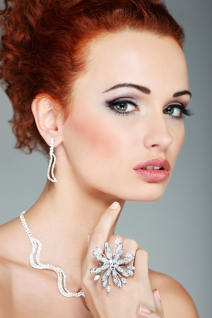 Fashion girl portrait.Accessorys. Stock Photo