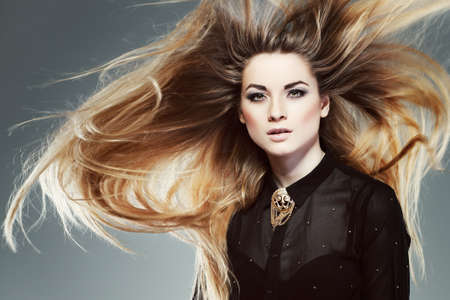 A photo of beautiful girl is in fashion style, glamour photo