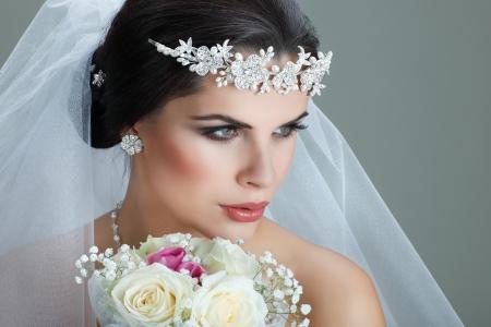 Portrait of beautiful bride Imagens