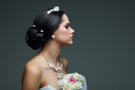 Portrait of beautiful bride photo