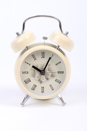 alarmclock: Alarmclock on white background;