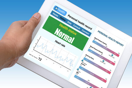 Electronic personal health information shown on tablet. photo