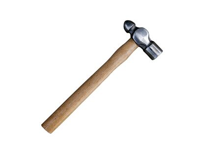 Bell peen hammer on white background. Standard-Bild
