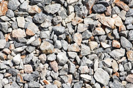 Top view of gravel stones for background. Banco de Imagens