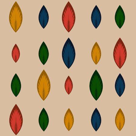 리프 패턴 디자인 일러스트