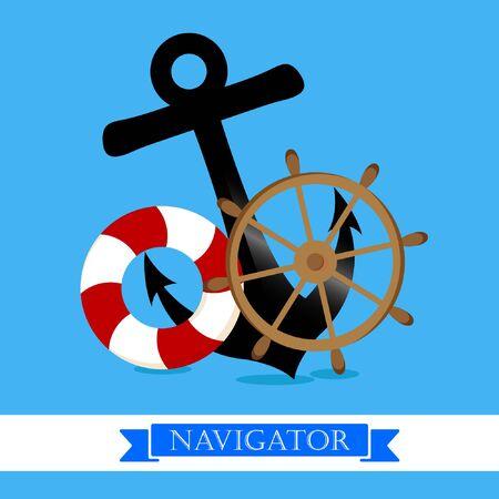 Nautical supplies design Vector illustration. Ilustrace