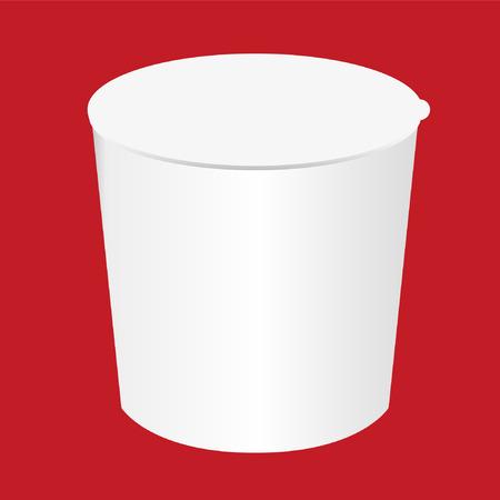 Cup noodles white box design