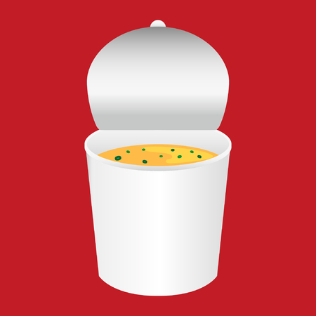 Cup noodle soup design Stock Illustratie