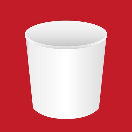 Cup noodles white box