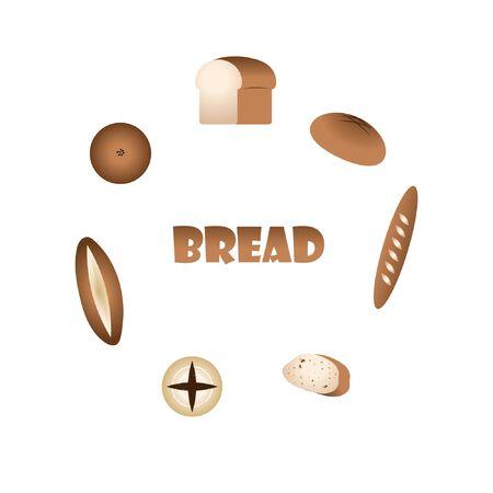 Bread element design Ilustrace