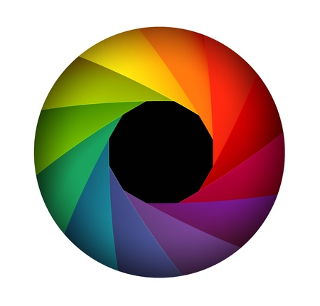 abstract aperture: Colorful shutter aperture