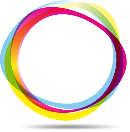 molecula: Anillo colorido Vectores