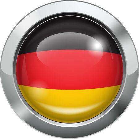 bandera alemania: Alemania Bandera de bot�n de metal