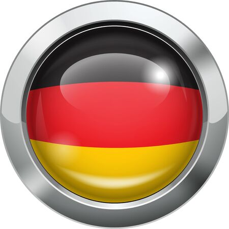 Germany flag metal button Stock Vector - 19531124