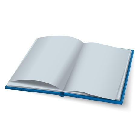 Open book vector Vector