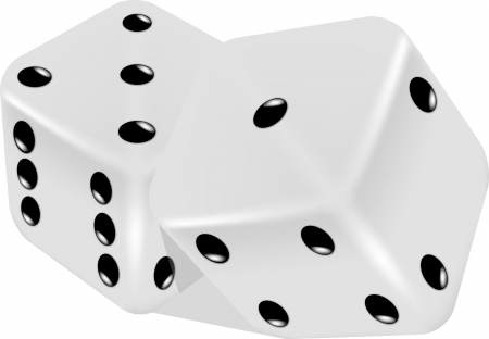 games of chance: White dice