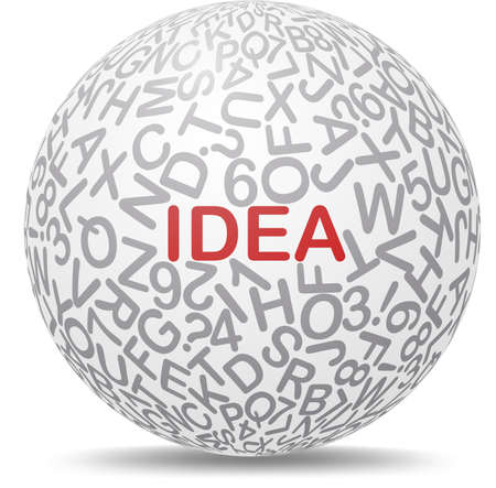 Idea text graphic concept on white background Stock Vector - 19531115