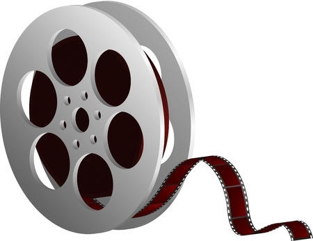 celluloid film: illustration of film reels