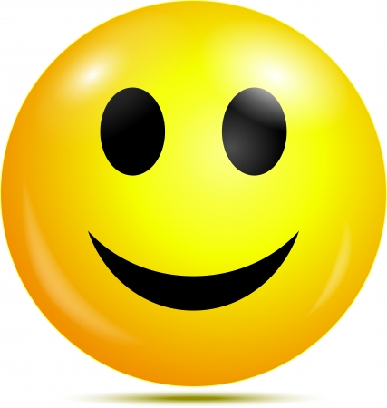 cara de alegria: Feliz sonriente