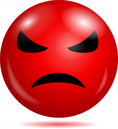 red heads: Angry smiley emoticon