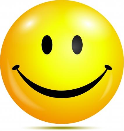 smiley content: Visage souriant heureux Illustration