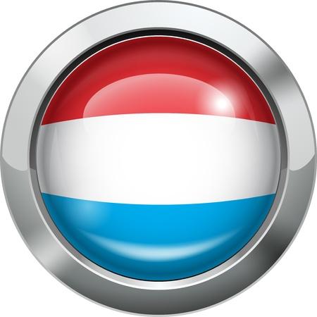 Dutch flag metal button Stock Vector - 19969992