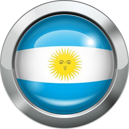 bandera argentina: Argentina Bandera de botón de metal