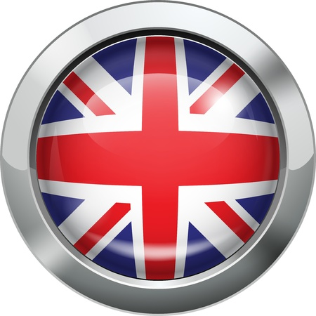 British flag metal button  Illustration