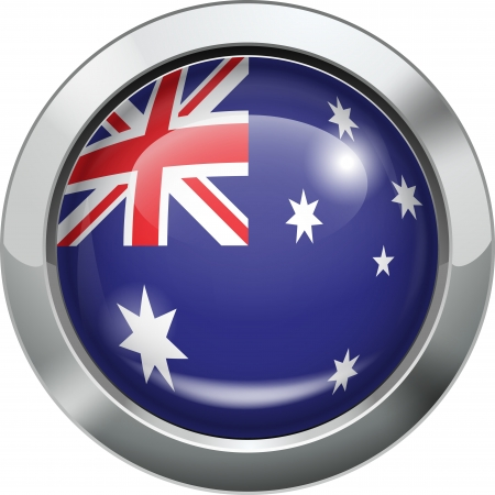 Australia flag metal button  Stock Vector - 19970068