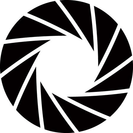 camera lens: diafragma achtergrond Stock Illustratie