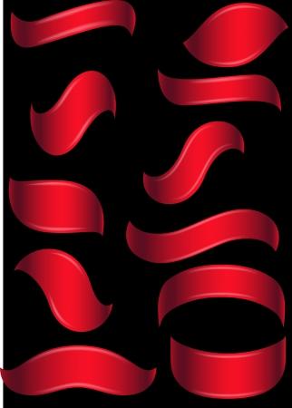 Red ribbon banner  Illustration