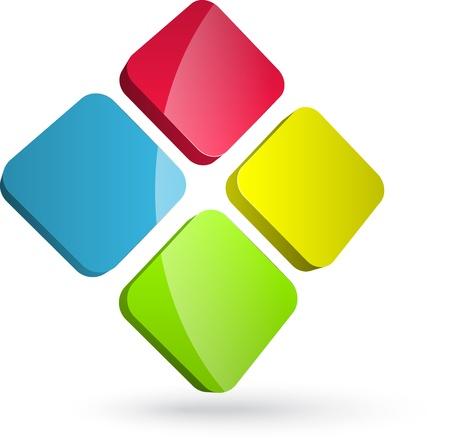 Colorful logo design  Ilustração