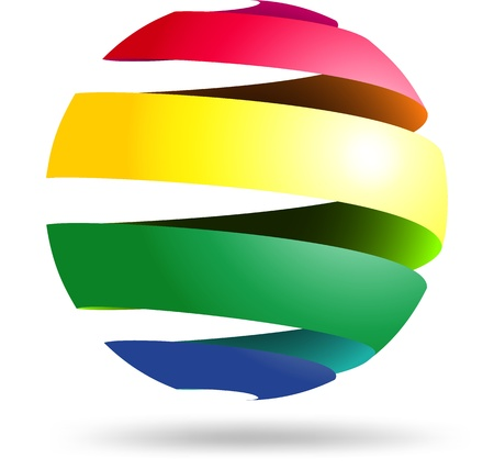 Colorful abstract sphere symbol