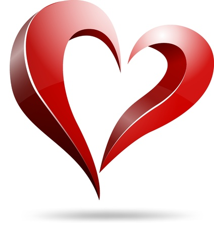 Logo heart shape design  Vector
