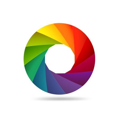 shutter aperture: Colorful shutter aperture