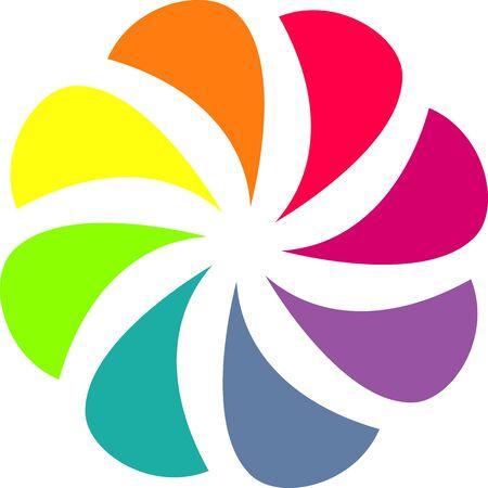 Colorful shutter aperture symbol Stock Vector - 20685814