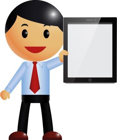 Businessman   tablet pc