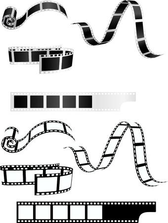 filmacion: Colección de fondo tira de la película