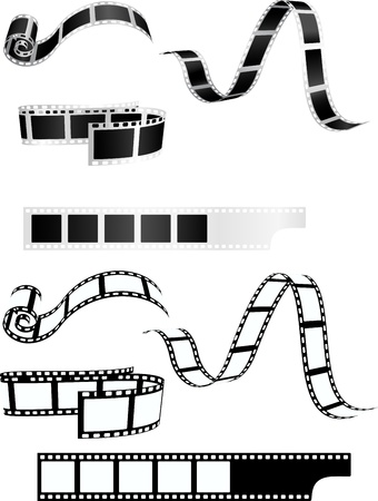 film shooting: Film strip background collection