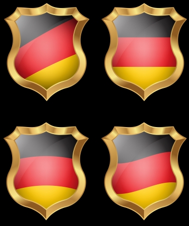 Germany flag on metal shiny shield  Stock Vector - 20693926