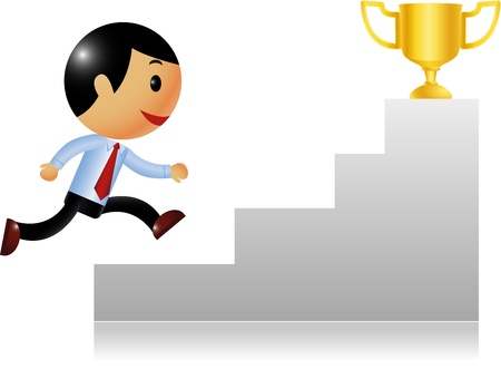 win money: Business achievement  Illustration