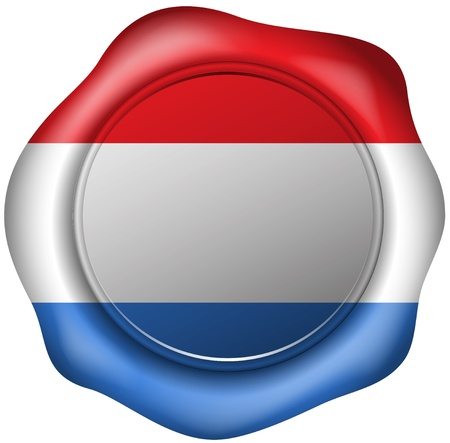 dutch flag: Wax seal with the Dutch flag
