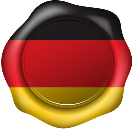 german mark: Wax seal with the Germany flag